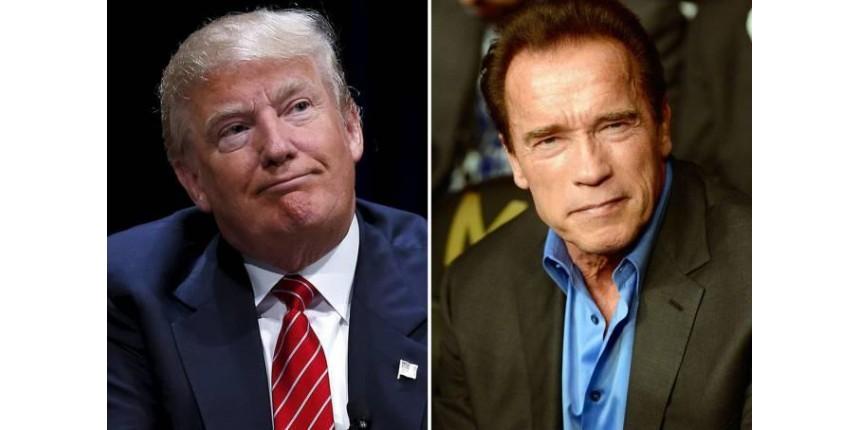 Schwarzenegger extermina Trump — com palavras