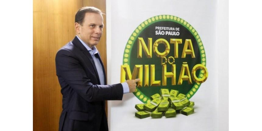 Doria vai sortear R$ 1 milhão por mês para quem pedir nota fiscal