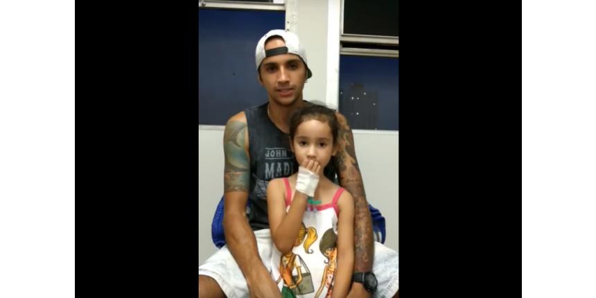 Para pai, 'milagre' salvou menina de seis anos baleada em SP