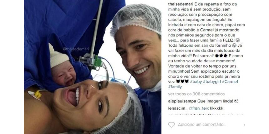 DESTAQUE da SEMANA: Selfie de bebê brasileiro 'sorrindo' após parto viraliza no Instagram e aparece na imprensa estrangeira