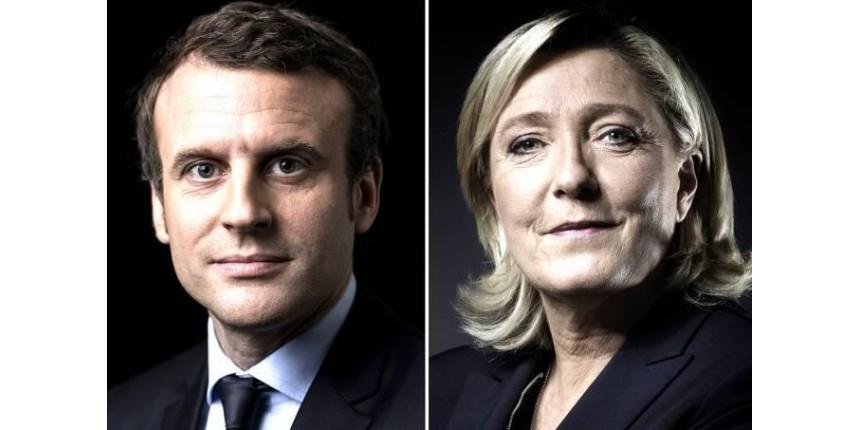Eleições na França: Macron (centro) é favorito sobre Le Pen (direita) no 2º turno