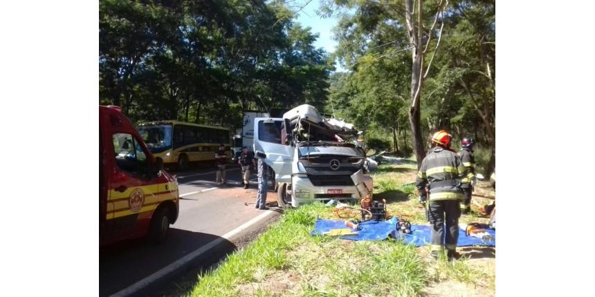 Caminhoneiro morre após caminhão bater em árvore na rodovia BR-153