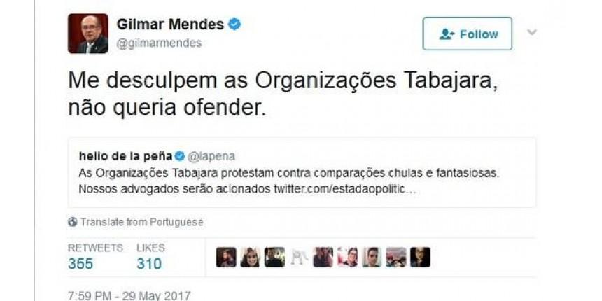 Gilmar se desculpa com Organizações Tabajara por compará-las ao Brasil