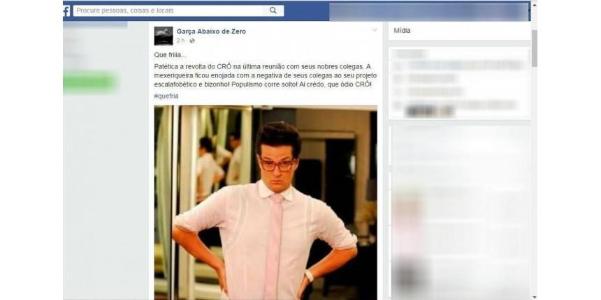 Vereador denuncia homofobia após ser comparado a personagem 'Crô' na web