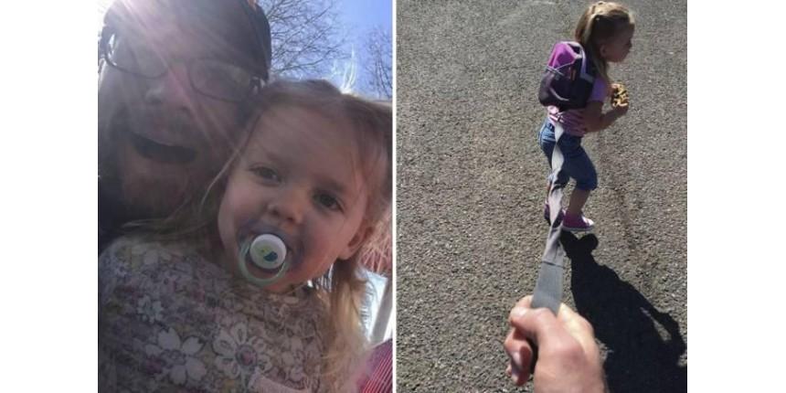 Em desabafo, pai revela por que mantém filha em coleira