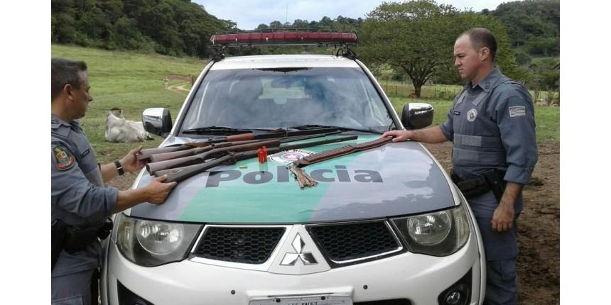 Polícia Ambiental apreende armas que seriam usadas em fazenda para caça ilegal