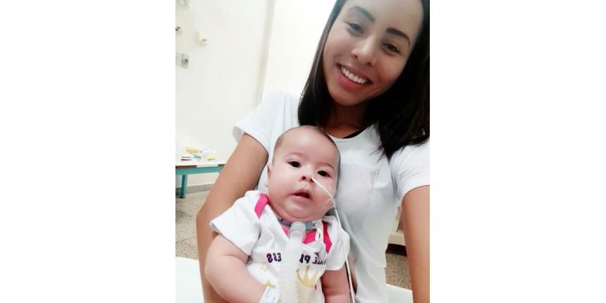 Mãe de bebê com doença rara faz campanha para custear tratamento de R$ 3 milhões