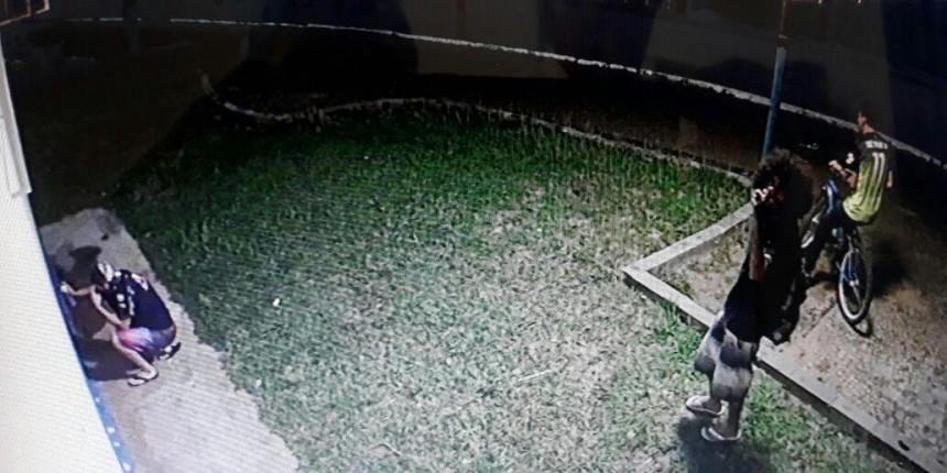 """""""Pichadores"""" são flagrados por câmeras na sede da Emdurb"""