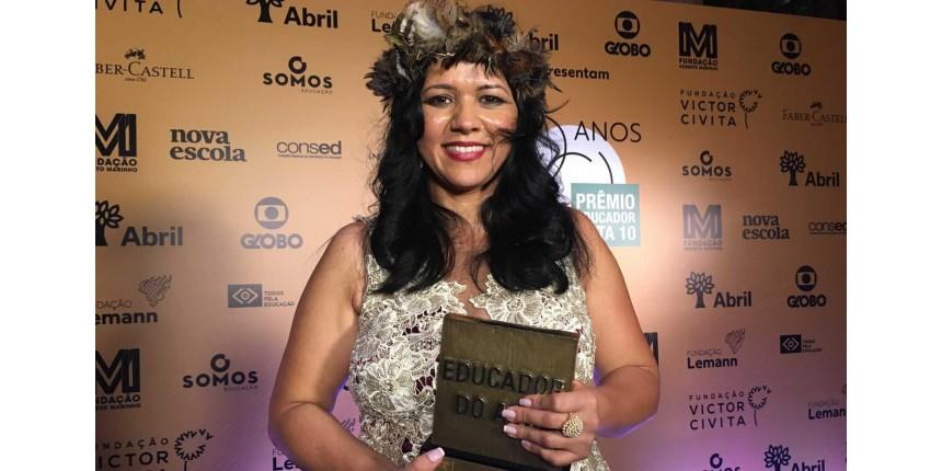 Prêmio Educador do Ano vai para professora de aldeia indígena de Rondônia