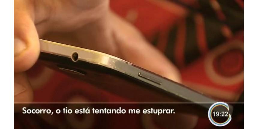 Adolescente pede socorro por áudio de celular antes de estupro