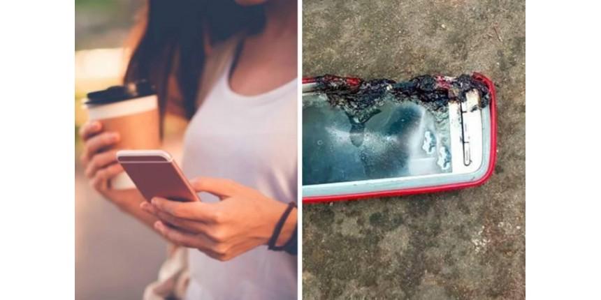 Jovem morre após celular explodir durante bate-papo