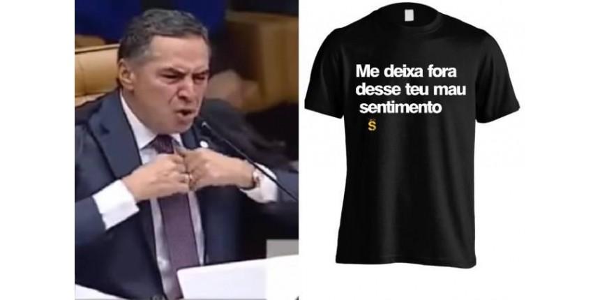Lojas on-line apostam em estampas com frase do ministro Barroso