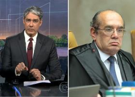 Bonner responde Gilmar Mendes ao vivo após crítica ao 'Jornal Nacional'