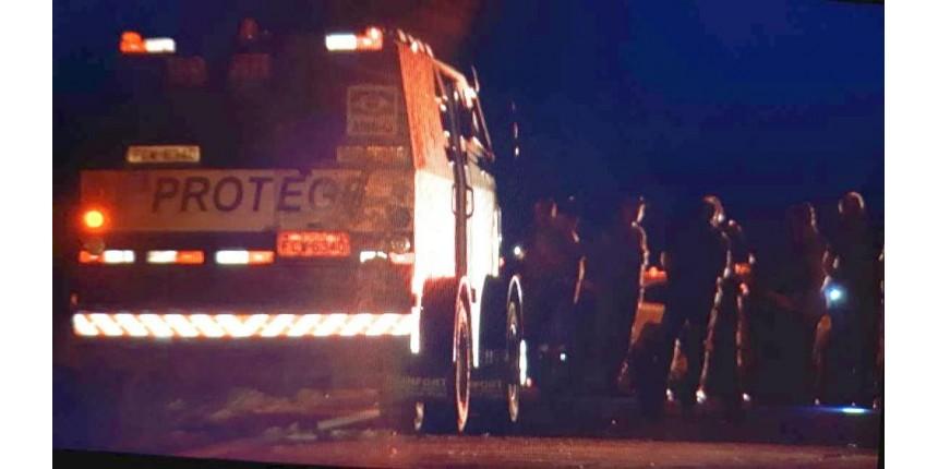 Carro-forte é atacado por criminosos em rodovia na região de Marília
