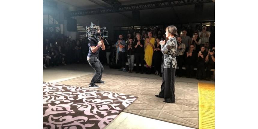 Gloria Pires grava final de 'O Outro Lado do Paraíso' na SPFW