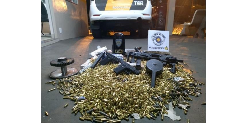 Polícia Rodoviária apreende grande arsenal de munições e armas em Assis