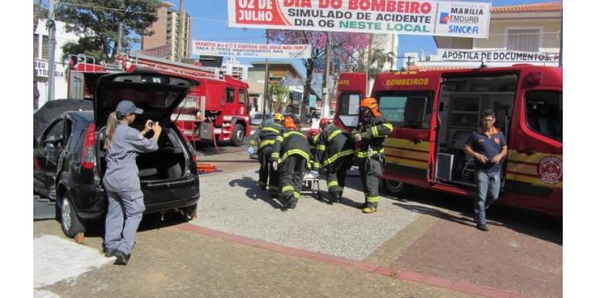 CORPO DE BOMBEIROS REALIZA SIMULADO COM RESGATE DE VITIMA