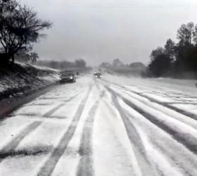 Temporal com granizo deixa rodovia no interior de SP com...