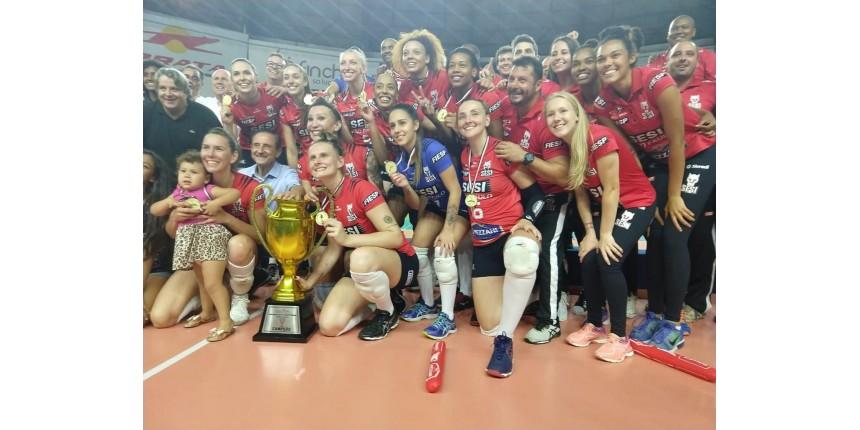 Sesi-Bauru bate Osasco e conquista o inédito título do Paulista de vôlei feminino