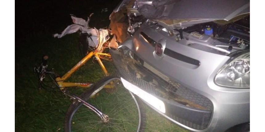 Ciclista morre após ser atingindo por carro em rodovia