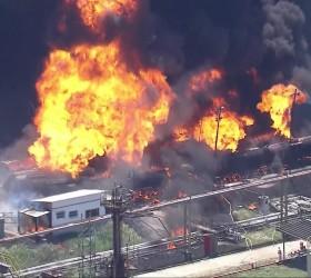Incêndio na Refinaria de Manguinhos é controlado após duas horas...
