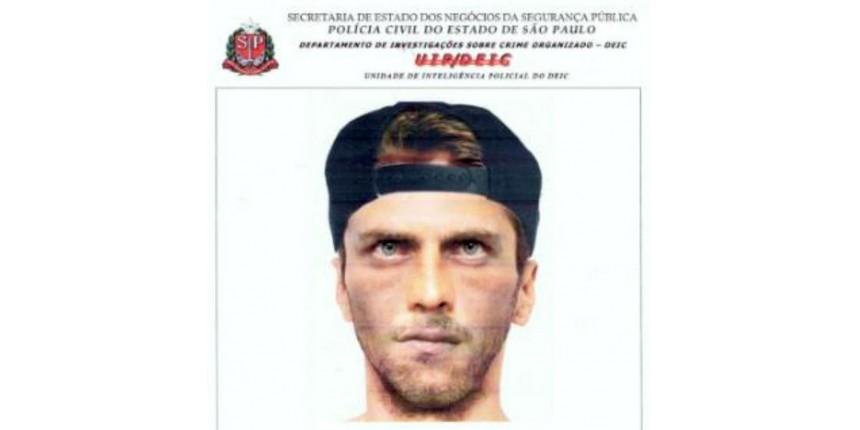 Polícia divulga retrato falado de suspeito de matar empresário para roubar malote com R$ 125 mil