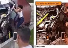 Artista desenha mulher que ajudou a tirar motorista após...