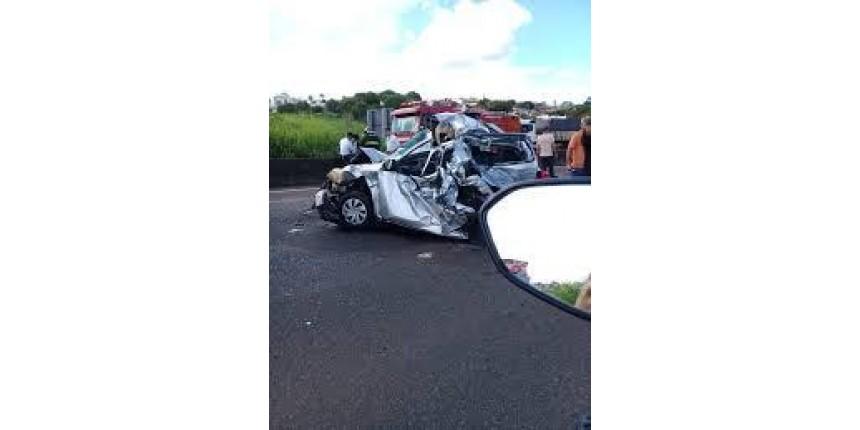 Acidente na rodovia do Contorno causa congestionamento em Marília