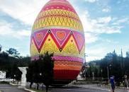 Cidade de SC tem maior ovo decorado de Páscoa do...