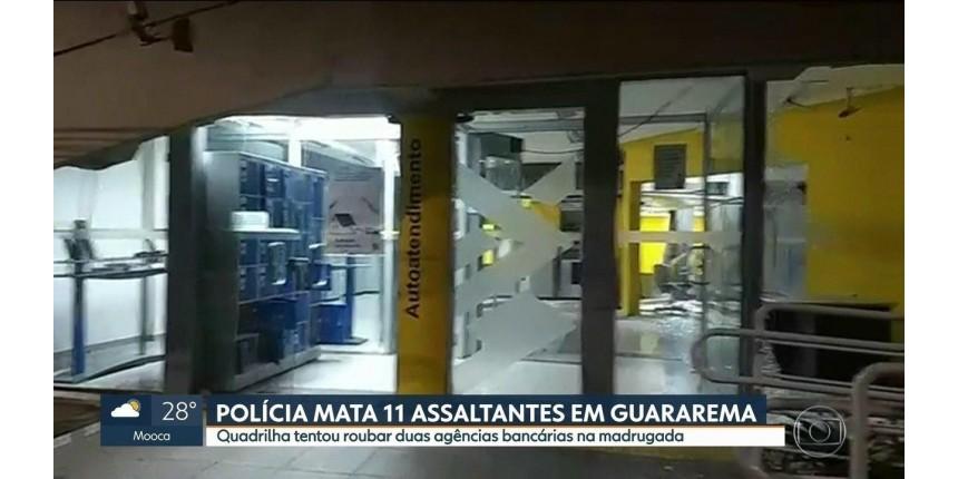 Guararema: tentativa de roubo a bancos termina com 11 mortos após tiroteio