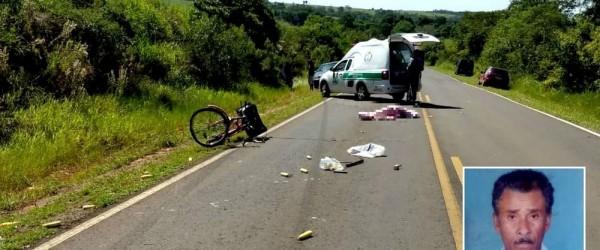 Idoso morre após acidente em vicinal