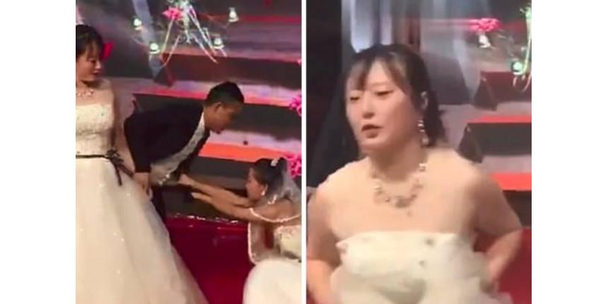 Mulher invade casamento de ex-namorado vestida de noiva e pede perdão