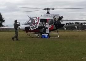 Transplante de coração em hospital do interior de SP mobiliza helicóptero Águia...
