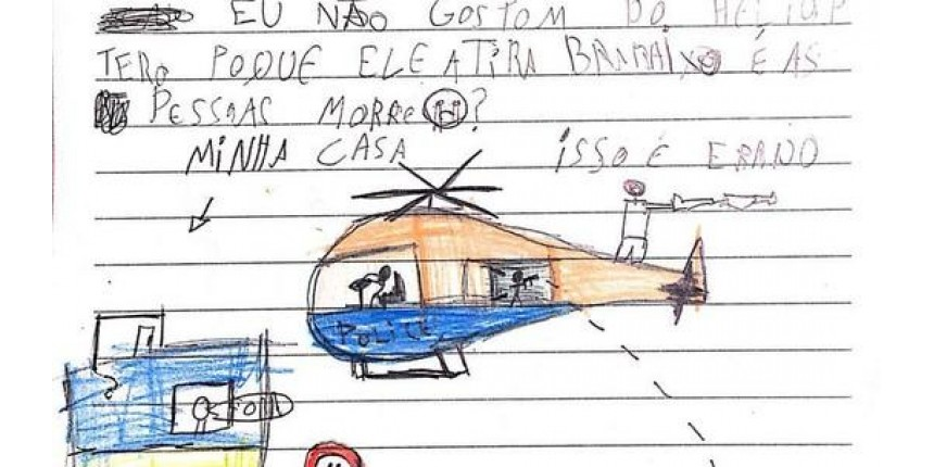 Em cartas à Justiça, crianças pedem menos violência