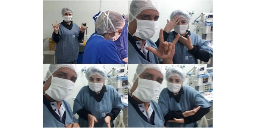 Intérprete de Libras traduz parto para pais surdos e emociona equipe médica