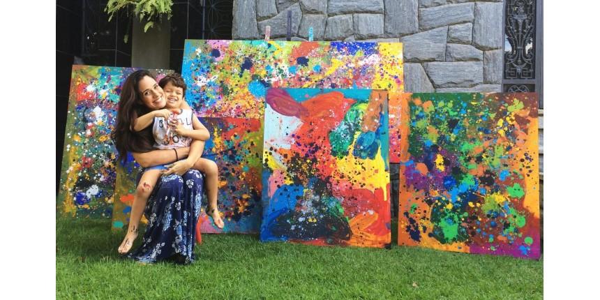 Menino autista supera desafios por meio da pintura; 'transformou nossas vidas', diz mãe