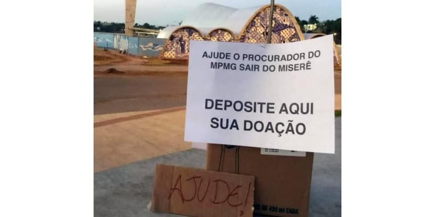 Caixa de doação critica procurador de Minas que chamou salário de R$ 24 mil de 'miserê'
