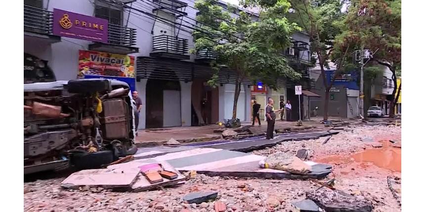 Chuva forte causa destruição na Grande BH; homem morre soterrado em Nova Lima