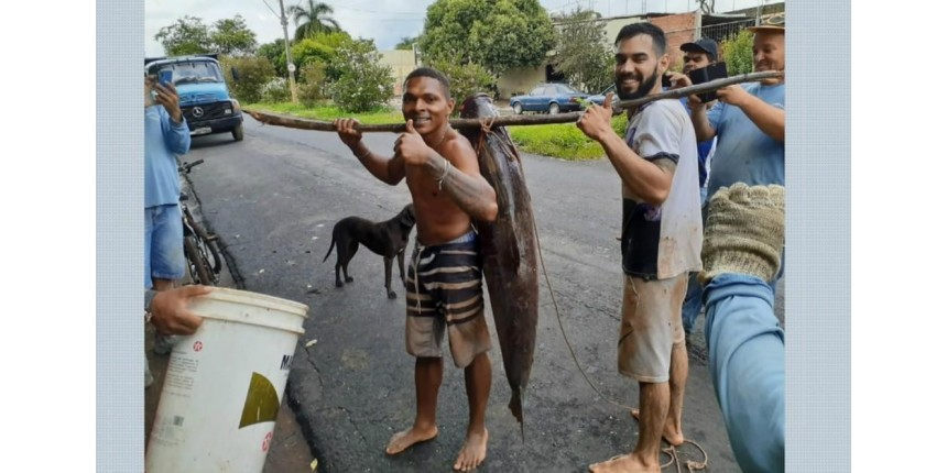 'Não foi pesca, foi caça', diz jovem que capturou peixe de 36 kg em represa