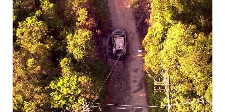 Polícia prende companheira e filha de casal que morreu carbonizado dentro de carro