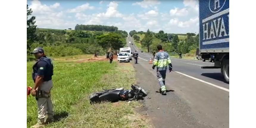 Morre PM que foi derrubado da moto por carro na BR-153 em Marília