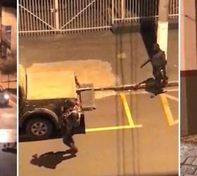 Bandidos explodem agência bancária e destroem base da PM em...