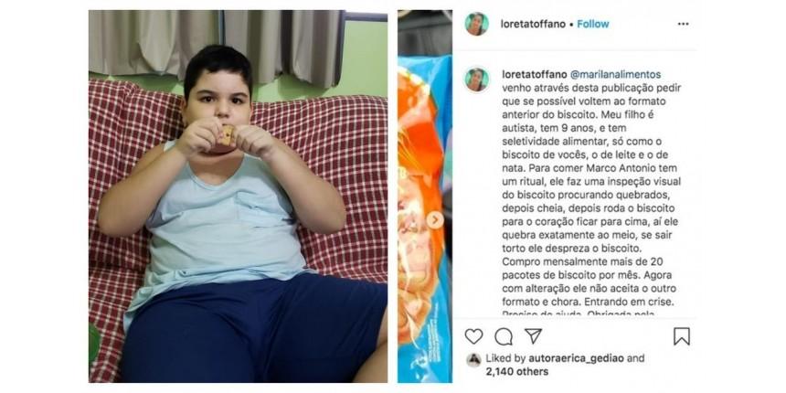 Empresa de Marília promete fornecer biscoito que 'saiu de linha' para menino autista após mãe fazer apelo