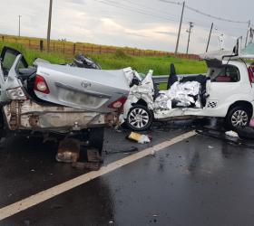 Mulheres morrem após batida frontal em rodovia de Marília